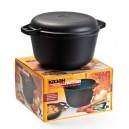 Гусятница 5 л литая с крышкой-сковородой,  антиприг. покрытие Teflon (Сталафлон) Нева Металл Посуда